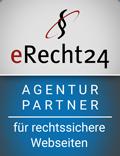Durch die Agentur-Partnerschaft mit eRecht24 sind wir auch rechtlich auf dem Laufenden